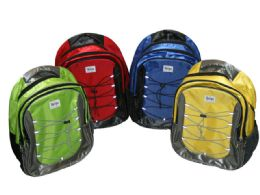 """12 Units of 17 Inch Bungee Cord Premium Backpack - Backpacks 17"""""""