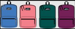 """24 Units of 17 Inch Backpack Assorted Colors - Backpacks 17"""""""