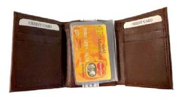 24 Units of Man Tri-Fold Genuine Leather Wallet - Leather Wallets