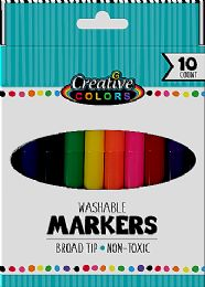 48 Bulk 10 Ct Washable Broad Tip Markers