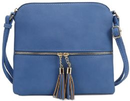 5 Units of Fashion Purse With Tassel And Adjustable Long Strap In Blue - Shoulder Bags & Messenger Bags