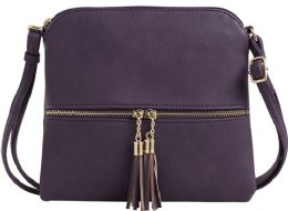 5 Units of Fashion Purse With Tassel And Adjustable Long Strap In Purple - Shoulder Bags & Messenger Bags
