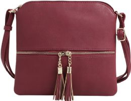 5 Units of Fashion Purse With Tassel And Adjustable Long Strap In Brown - Shoulder Bags & Messenger Bags