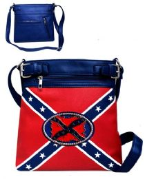 4 Units of Crossbody Sling Purse Rebel Flag - Shoulder Bags & Messenger Bags