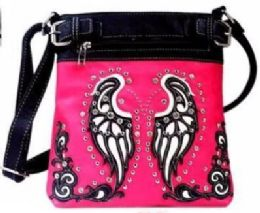 4 Units of Wing Crossbody Sling With Gun Pocket Hot Pink - Shoulder Bags & Messenger Bags