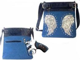 4 Units of Wester Wing Crossbody Sling With Gun Pocket Denim - Shoulder Bags & Messenger Bags