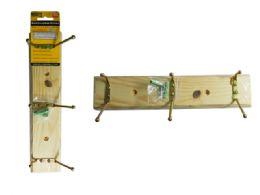 72 Units of Wooden Hanger - Hooks