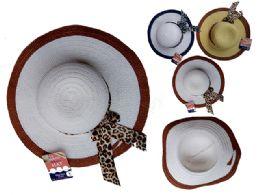 144 Units of Women's 2-Tone Hat W/ Ribbon - Sun Hats