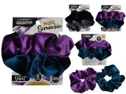 288 Units of Velvet Hair Ties - PonyTail Holders