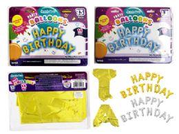 144 Wholesale Happy Birthday Letter Balloon