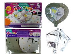 144 Wholesale 4pc Foil Balloons Just Married
