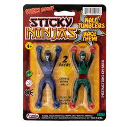 72 Units of Sticky Stuff Ninjas - 2 Piece Set - Slime & Squishees