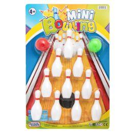 36 Units of Mini Bowling Game - 12 Piece Set - Balls