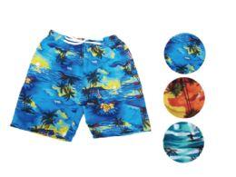 72 Units of MEN BEACH SHORTS - Mens Bathing Suits