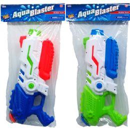 """12 Units of 14.75"""" WATER GUN W/PUMP ACTN IN POLY BAG W/HEADER, 2 ASST - Water Guns"""