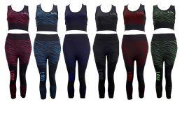36 Units of Zebra Capri Set With Love Print - Womens Capri Pants