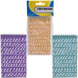 48 Wholesale Memo Book 3pk 60sht Scribble