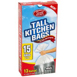 24 Units of Trash Bags 15ct - 13 Gallon Tall - Garbage & Storage Bags