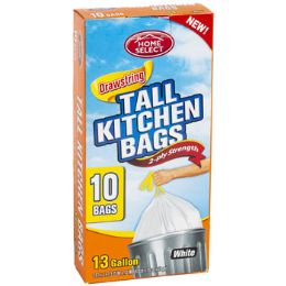 24 Units of Trash Bags 10ct - 13 Gallon Tall - Garbage & Storage Bags