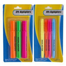 36 Units of Highlighter 3pk/4pk Multicolor - Highlighter