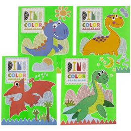 48 Units of Coloring Book Dinos In Color - Coloring & Activity Books