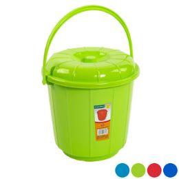 48 Units of Bucket With Lid & Handle 3qt - Buckets & Basins
