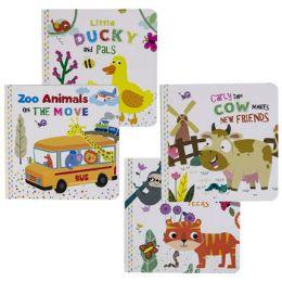 48 Bulk Board Books 200 Animals 4 Asstd