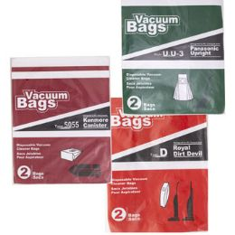 75 Units of Vacuum Bags 2pk Assorted - Cleaning Supplies