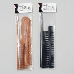 72 Bulk Comb Set 3pc Professional