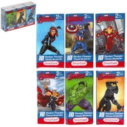 24 Units of Pocket Tissue 6pk Marvel Avengers Asst 2ply 10ct White - Tissues