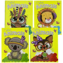 48 Units of Coloring Book Animals In Color - Coloring & Activity Books