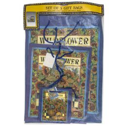 48 Units of Gift Bags S/3 Sunflower - 2 Asst - Gift Bags Assorted