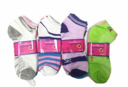 300 Units of MIXED PATTERN LADY SOCKS - Womens Ankle Sock