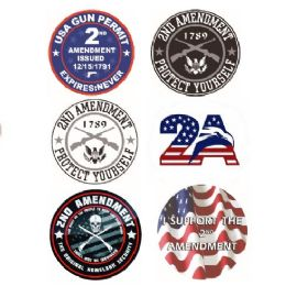 96 Units of Bumper Sticker 2nd Amendment - Auto Steering Wheel Covers