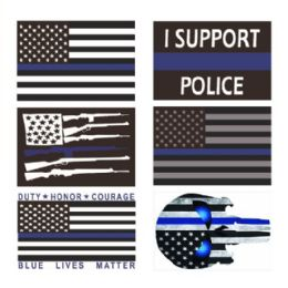 96 Units of Bumper Sticker Blue Line - Auto Steering Wheel Covers