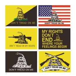 96 Units of Bumper Sticker Don't Tread on Me - Auto Steering Wheel Covers