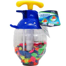 """12 of 250 PC WATER BALLOONS IN 10"""" CONTAINER W/ PUMP"""