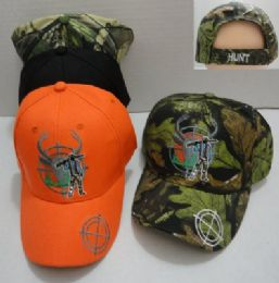 24 Units of Hunter with Gun Hat Deer in Crosshairs - Hunting Caps