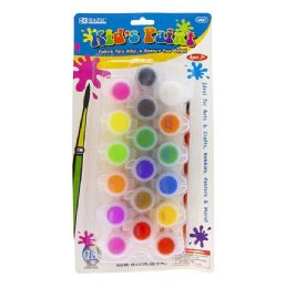 72 Units of 18 Color Kids Paint Set - Paint