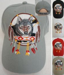 24 Units of Native Pride Wolf Hat - Hunting Caps