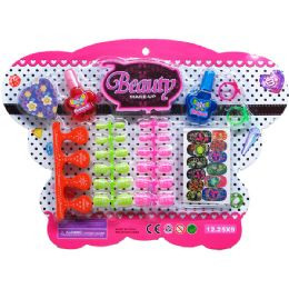 48 Units of BUTTERFLY NAIL SET - Girls Toys