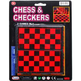 72 Bulk 2 IN 1 CHESS & CHECKERS GAME SET
