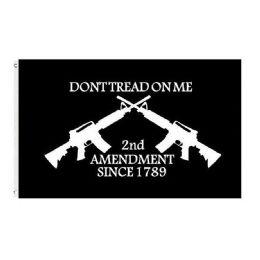 24 of DON'T TREAD ON ME Flag Black Guns 2nd Amendment