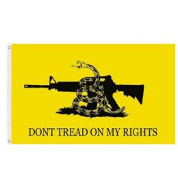 24 of DON'T TREAD ON MY RIGHTS Flag Yellow