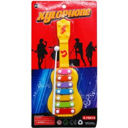 """72 Units of 10"""" XYLOPHONE ON BLISTER CARD, 2 ASSRT CLRS - Novelty Toys"""