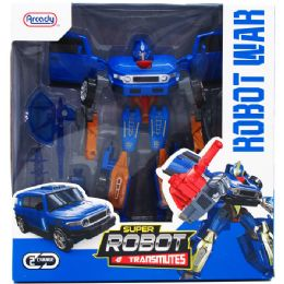 """12 Units of 8"""" TRANSFORMING ROBOT W/ ACCSS IN WINDOW BOX - Action Figures & Robots"""