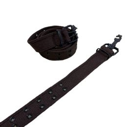 24 Units of Belt Canvas Belt with Holes All Sizes Coffee - Belts