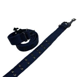 24 Units of Belt Canvas Belt with Holes All Sizes Navy - Belts