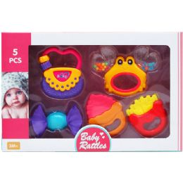 12 Wholesale 5PC BABY RATTLE PLAY SET