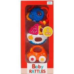 24 Wholesale 3PC BABY RATTLE PLAY SET